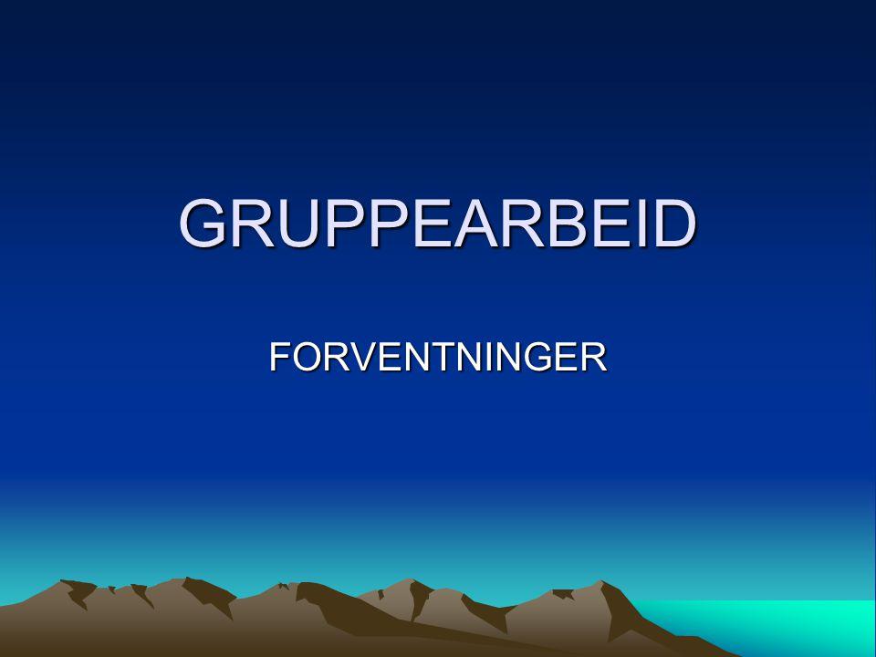GRUPPEARBEID FORVENTNINGER