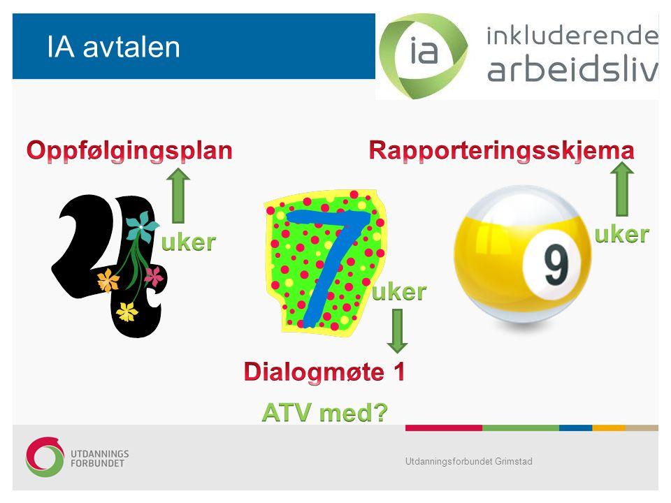 IA avtalen Utdanningsforbundet Grimstad