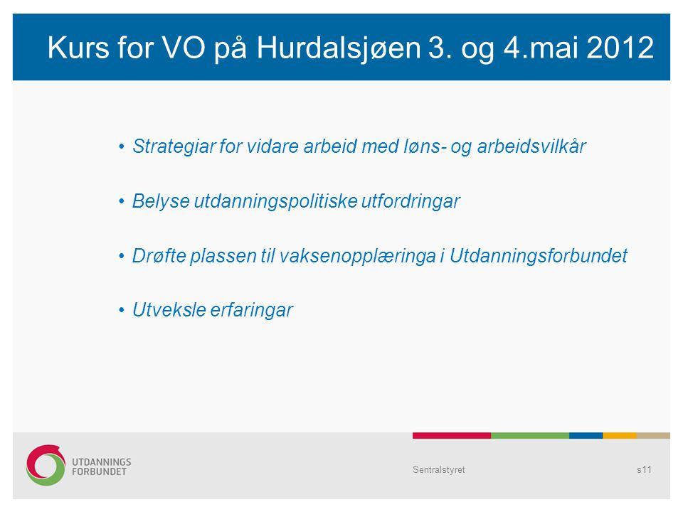 Kurs for VO på Hurdalsjøen 3.