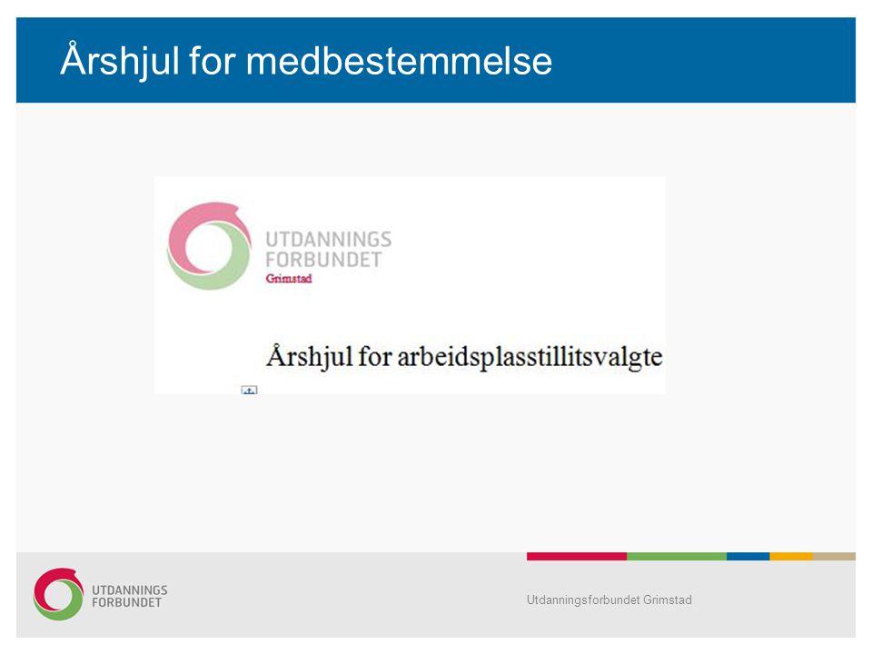 Årshjul for medbestemmelse Utdanningsforbundet Grimstad