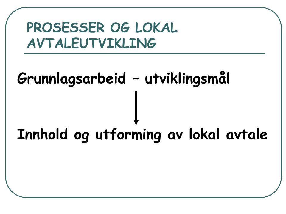 SYSTEMENDRING Systemet er snudd på hodet:  Tariffmessig forpliktelse å inngå en lokal arbeidstidsavtale innen 1.