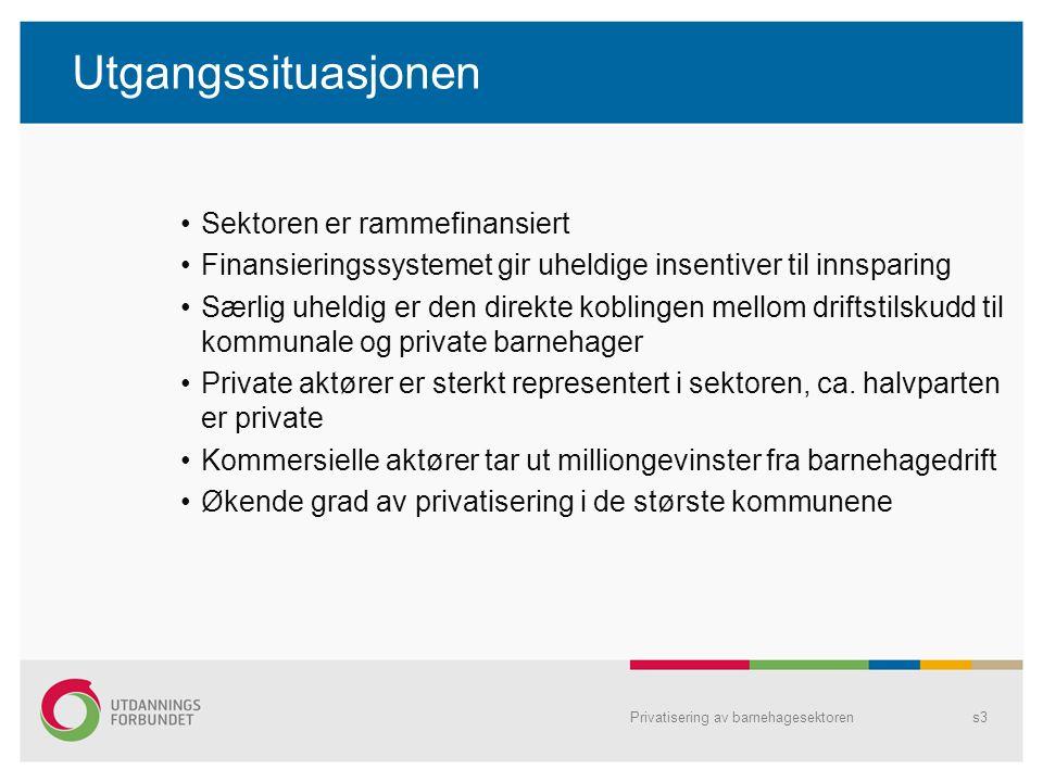 Oppsummering del 3 3.Er det sammenheng mellom andelen private barnehager i kommunen og insentivet til kutt i barnehagebudsjettene.