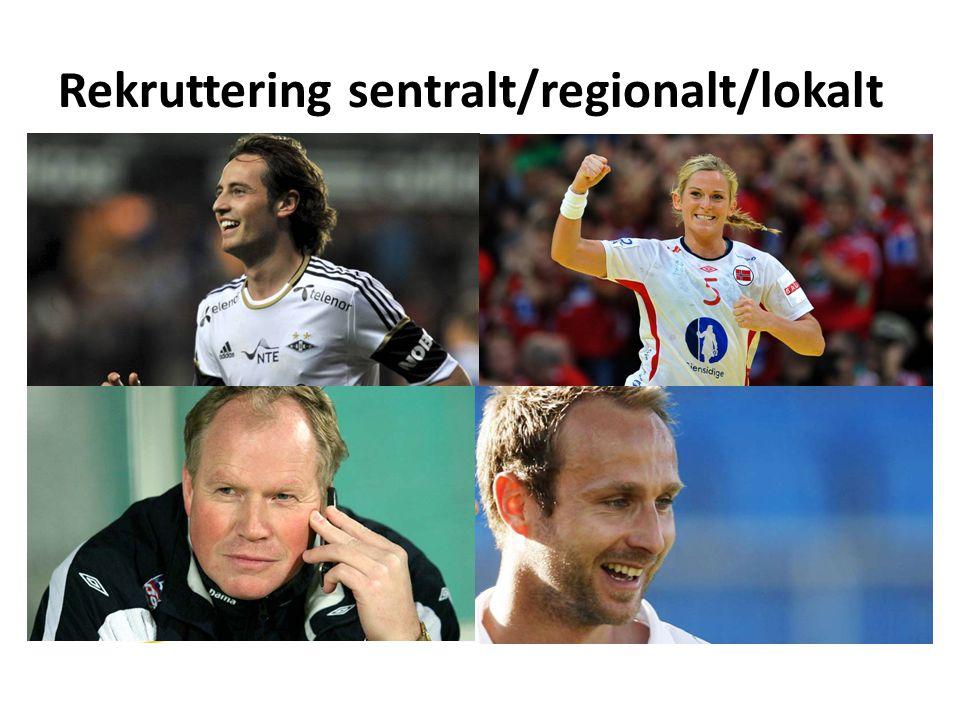 Rekruttering sentralt/regionalt/lokalt