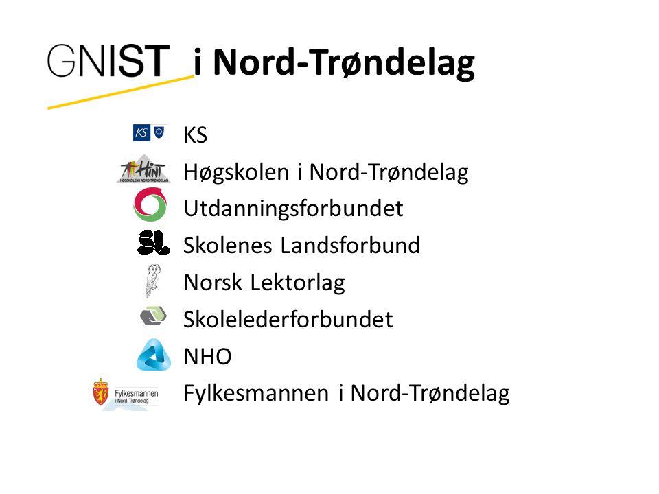 i Nord-Trøndelag KS Høgskolen i Nord-Trøndelag Utdanningsforbundet Skolenes Landsforbund Norsk Lektorlag Skolelederforbundet NHO Fylkesmannen i Nord-Trøndelag