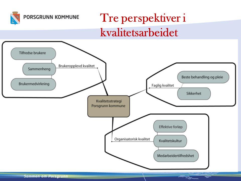 Tre perspektiver i kvalitetsarbeidet