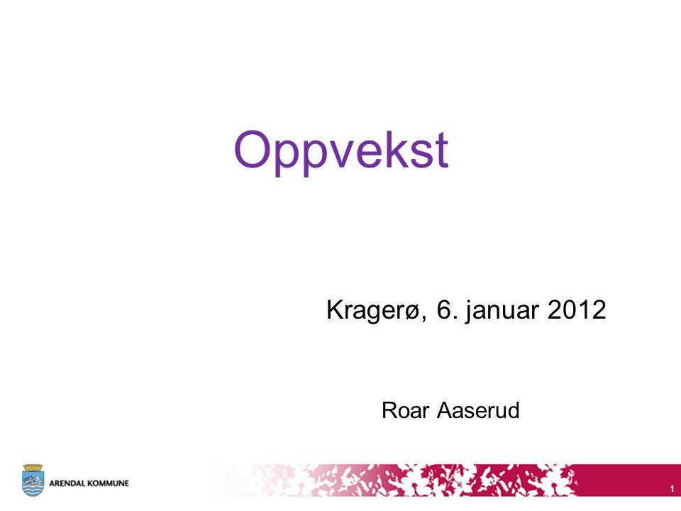 Oppvekst Kragerø, 6. januar 2012 Roar Aaserud 1