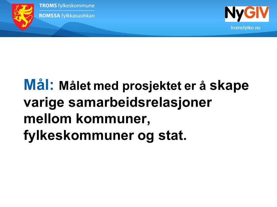 tromsfylke.no Status totalt: fase 1 og fase 2 Fase 1: 5 ungdomsskoler og 5 videregående skoler i Tromsø.