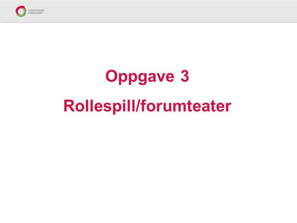 Oppgave 3 Rollespill/forumteater