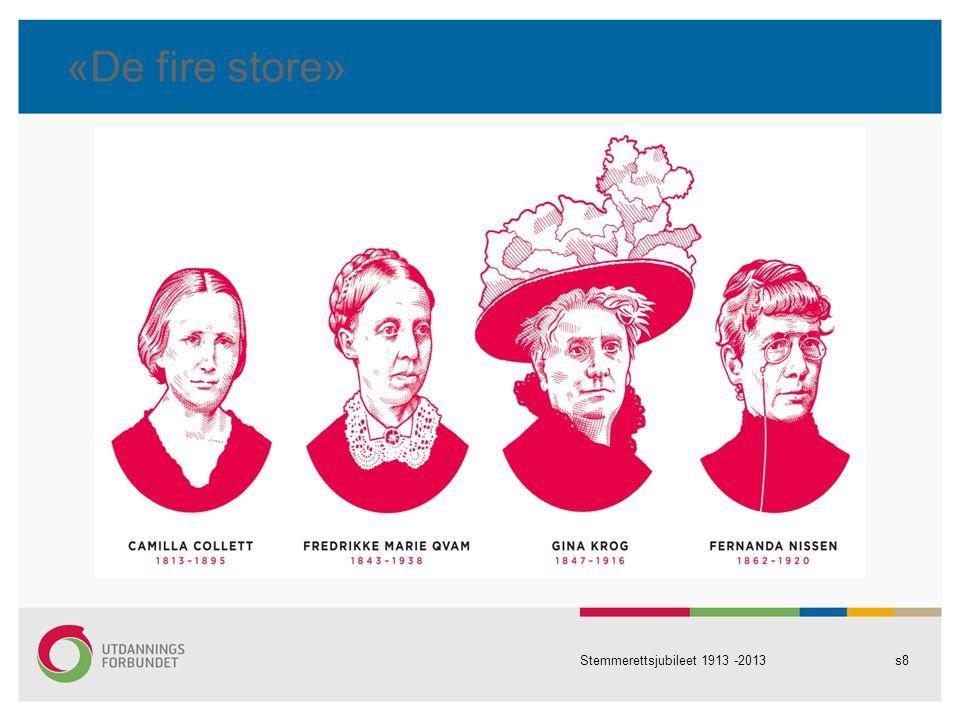 «De fire store» Stemmerettsjubileet 1913 -2013s8