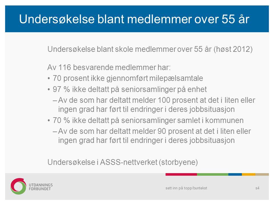 Undersøkelse blant medlemmer over 55 år Undersøkelse blant skole medlemmer over 55 år (høst 2012) Av 116 besvarende medlemmer har: 70 prosent ikke gje