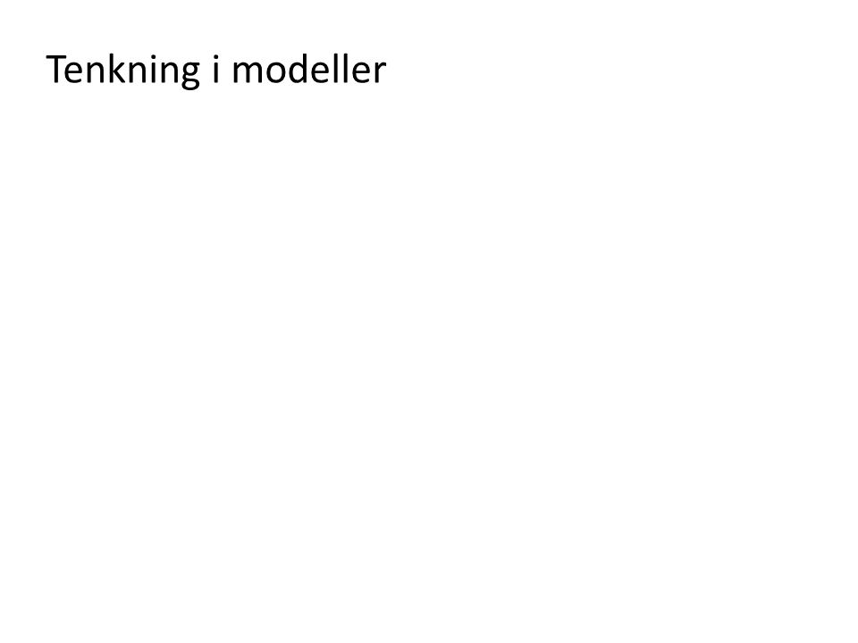 Tenkning i modeller