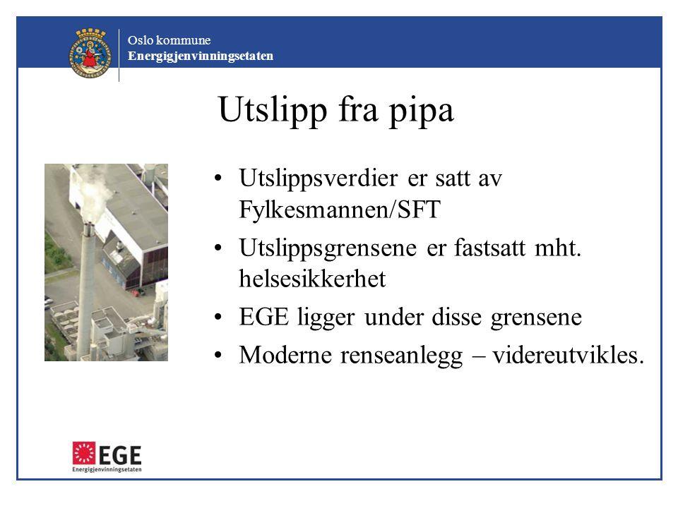 Oslo kommune Energigjenvinningsetaten Trafikk / støy Under anleggsperioden vil det være anleggstrafikk og i perioder støy fra byggingen.