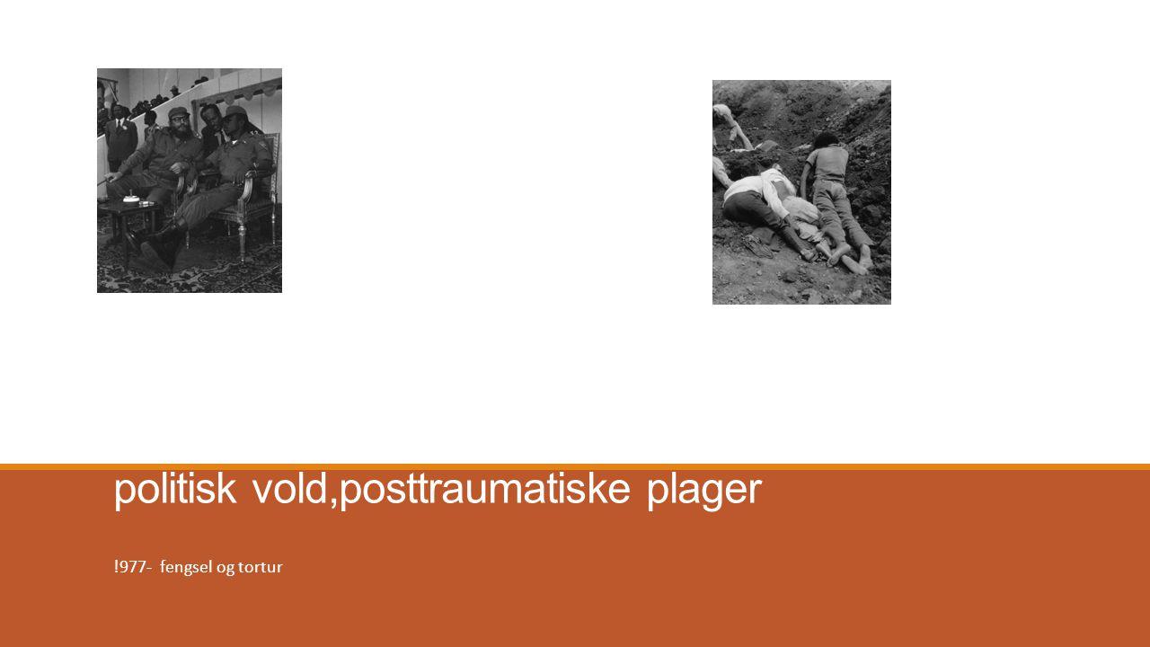 Etter den røde terreur politisk vold,posttraumatiske plager !977- fengsel og tortur