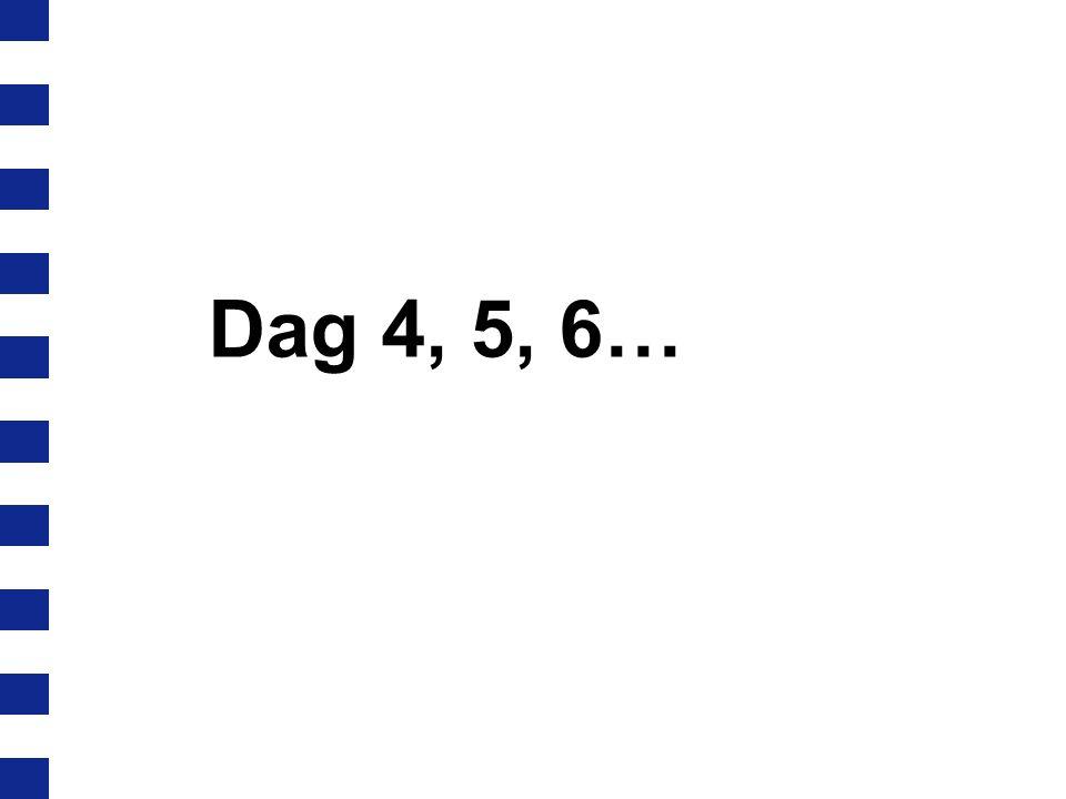 Dag 4, 5, 6…