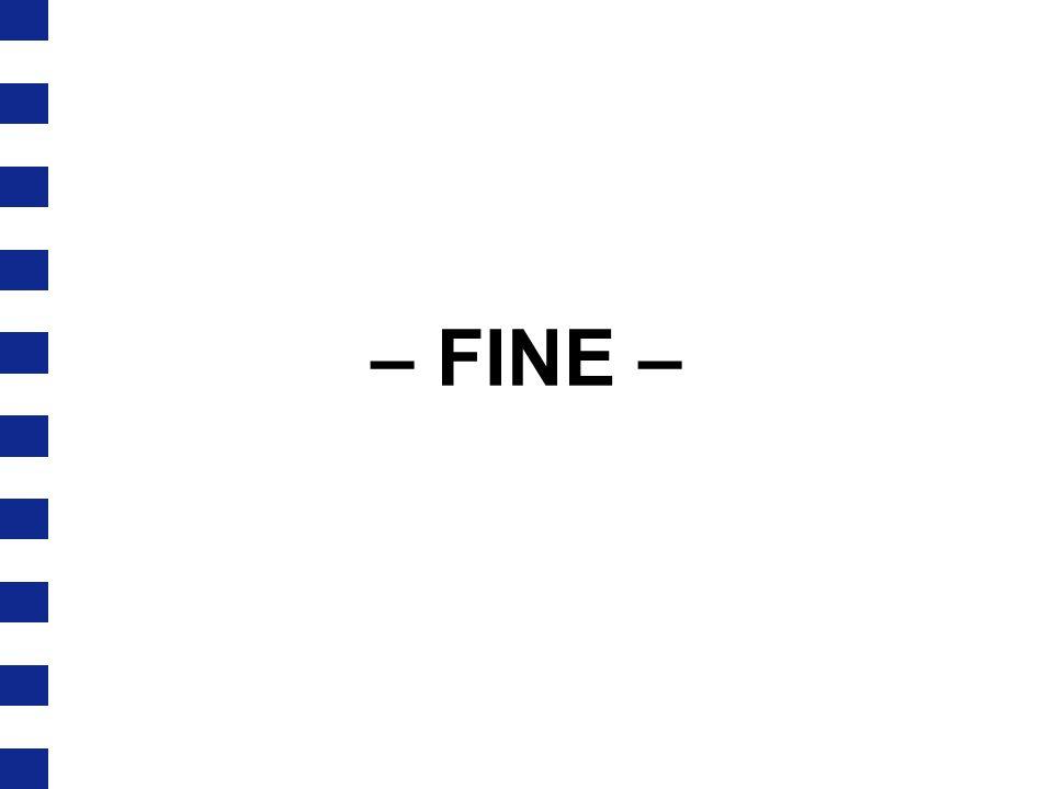 – FINE –