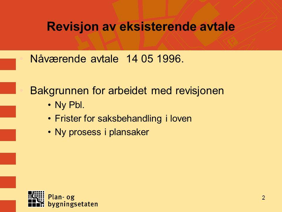 3 Samarbeidsavtale med bydelene Generelt Bydelene i Oslo får gjennom denne samarbeidsavtalen rettigheter og plikter som høringsinstans i plansaker og i nærmere angitte byggesaker.