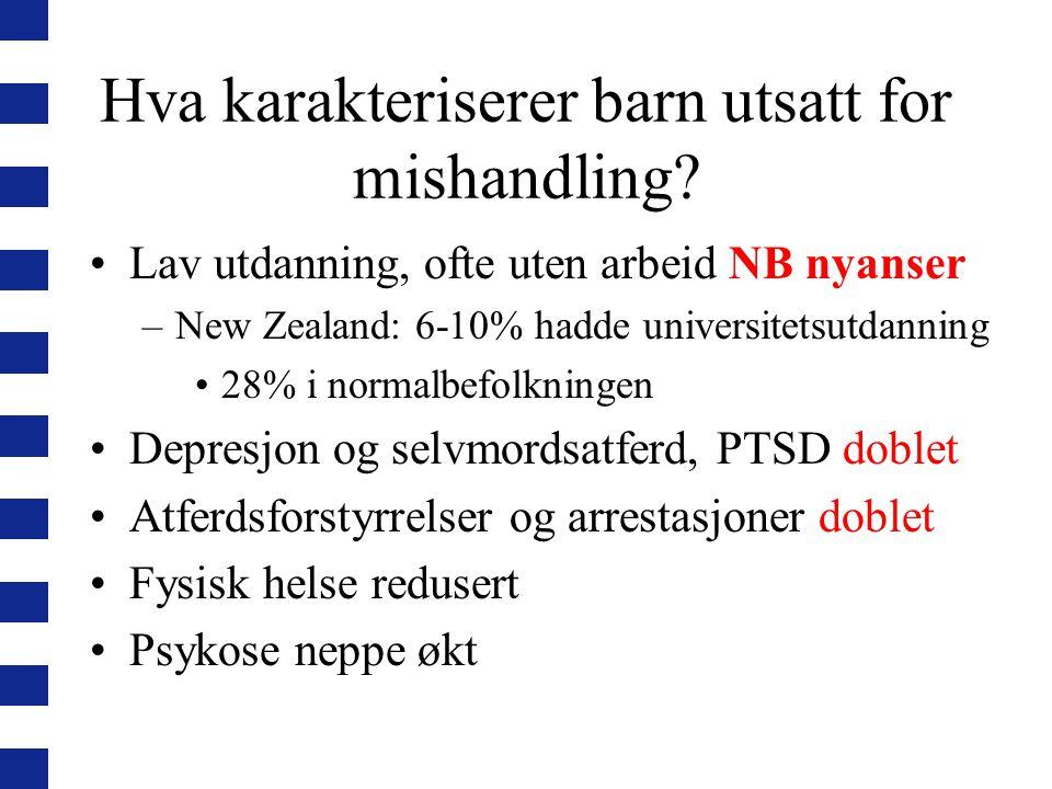 Hvordan går det med barnevernsbarn (1990- 2005) i Norge sammenliknet med andre barn .