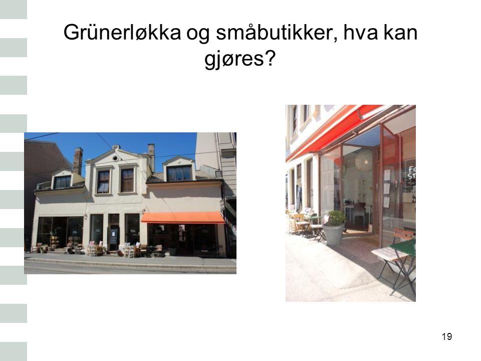 Grünerløkka og småbutikker, hva kan gjøres? 19