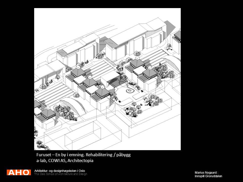 Arkitektur- og designhøgskolen i Oslo The Oslo School of Architecture and Design Marius Nygaard : Innspill Groruddalen Furuset – En by i emning. Rehab