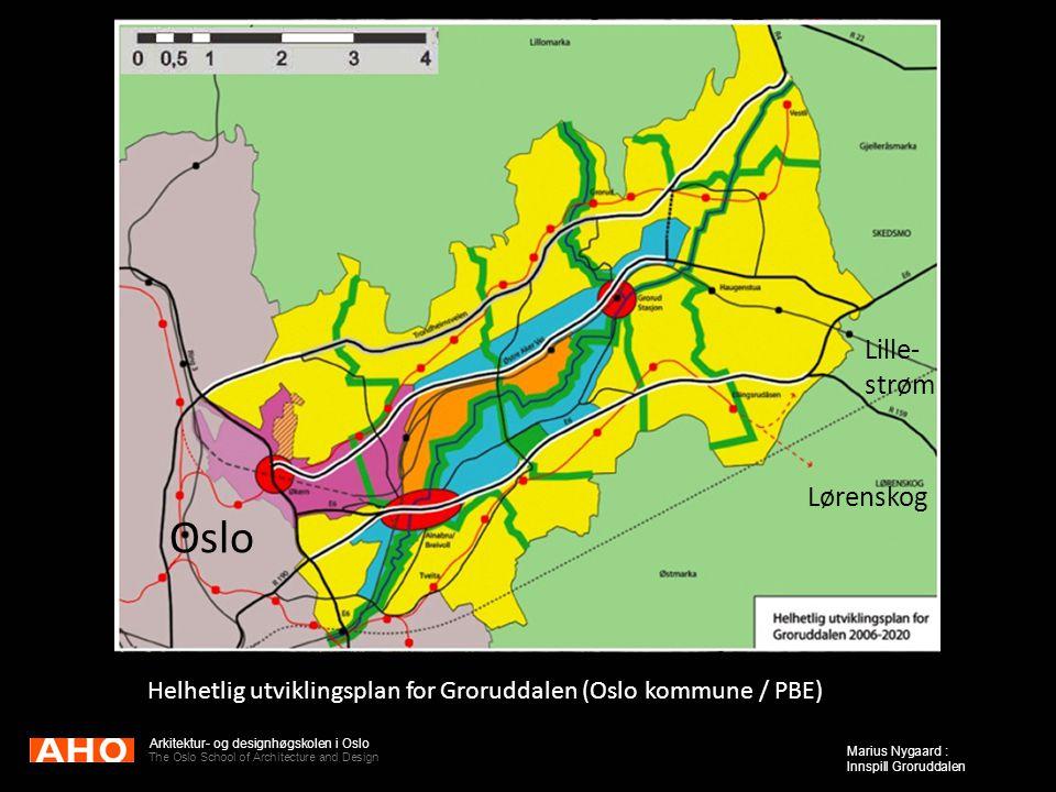 The Oslo School of Architecture and Design Marius Nygaard : Innspill Groruddalen Helhetlig utviklingsplan for Groruddalen (Oslo kommune / PBE) Oslo Li