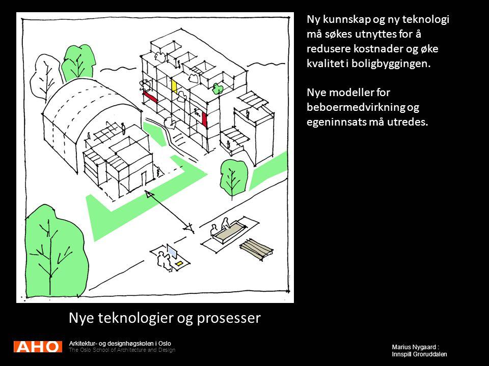 Arkitektur- og designhøgskolen i Oslo The Oslo School of Architecture and Design Marius Nygaard : Innspill Groruddalen Nye teknologier og prosesser Ny
