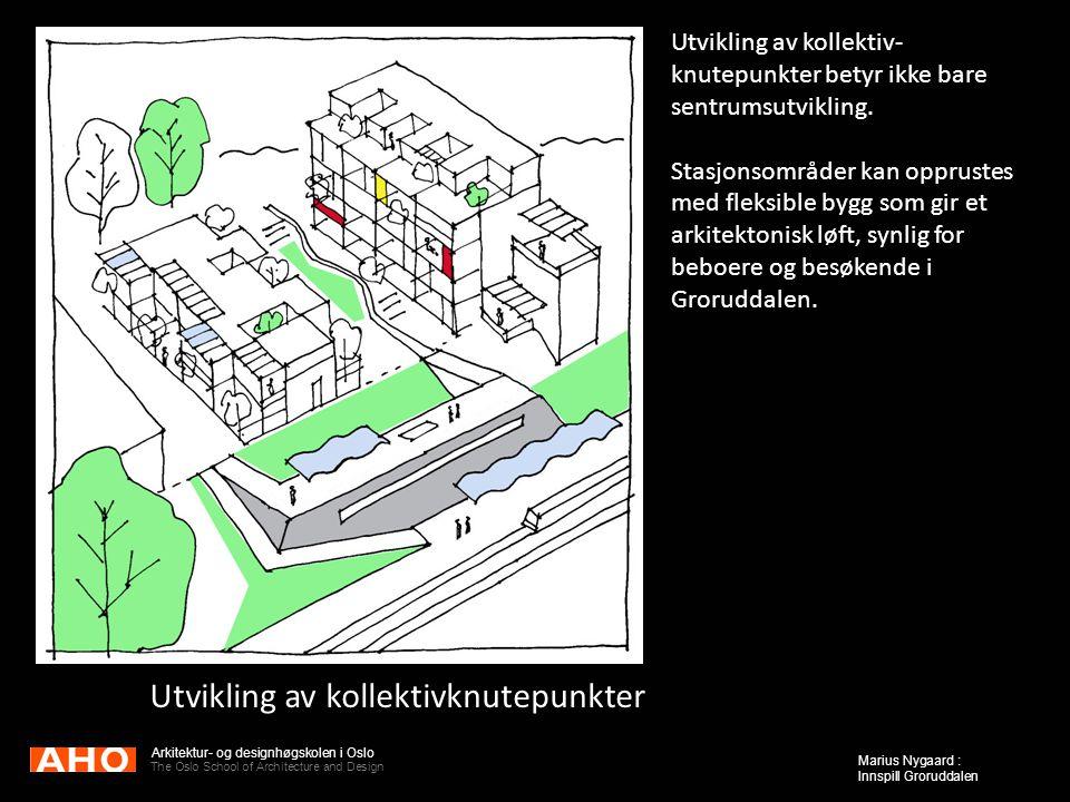 Arkitektur- og designhøgskolen i Oslo The Oslo School of Architecture and Design Marius Nygaard : Innspill Groruddalen Utvikling av kollektivknutepunk