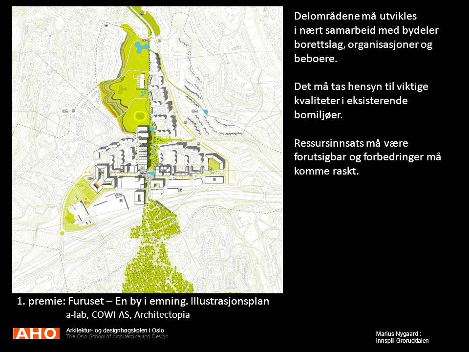Arkitektur- og designhøgskolen i Oslo The Oslo School of Architecture and Design Marius Nygaard : Innspill Groruddalen Delområdene må utvikles i nært
