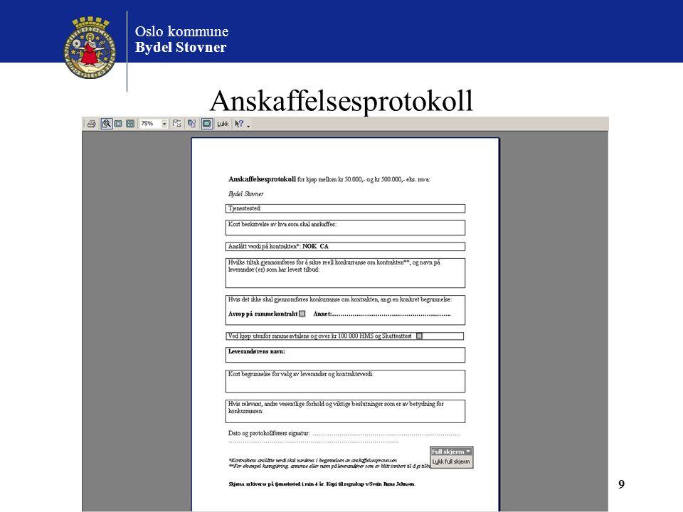 Oslo kommune Bydel Stovner 20 Inventarkort