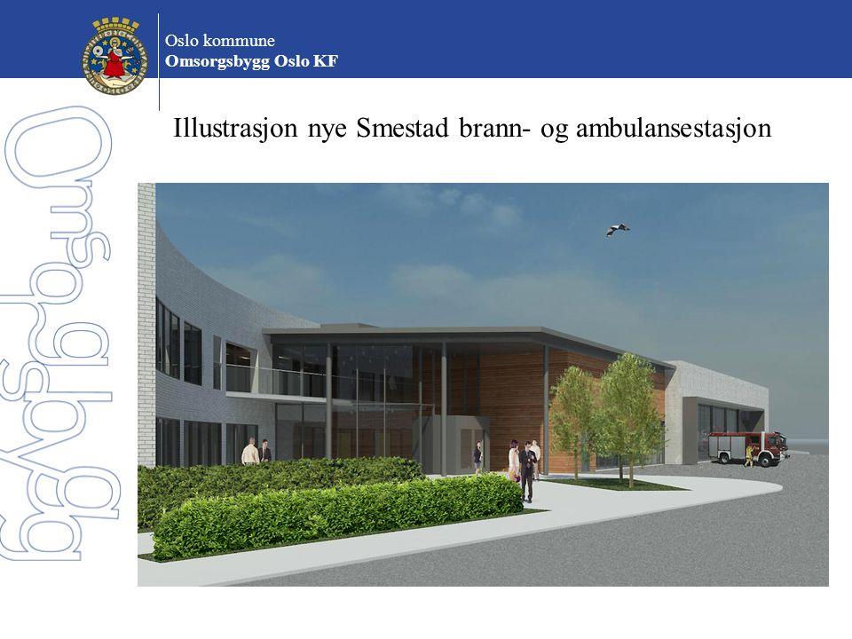 Oslo kommune Omsorgsbygg Oslo KF Illustrasjon nye Smestad brann- og ambulansestasjon
