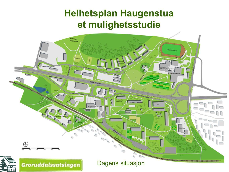 Helhetsplan Haugenstua et mulighetsstudie Dagens situasjon