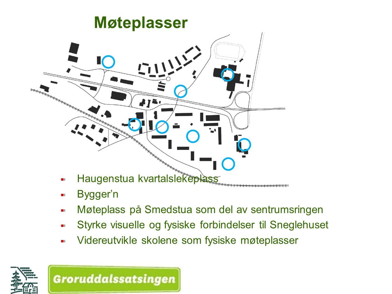 Blågrønn struktur Grønn sentrumsring Bekkeåpning Styrke Oldtidsveien og turvei D10