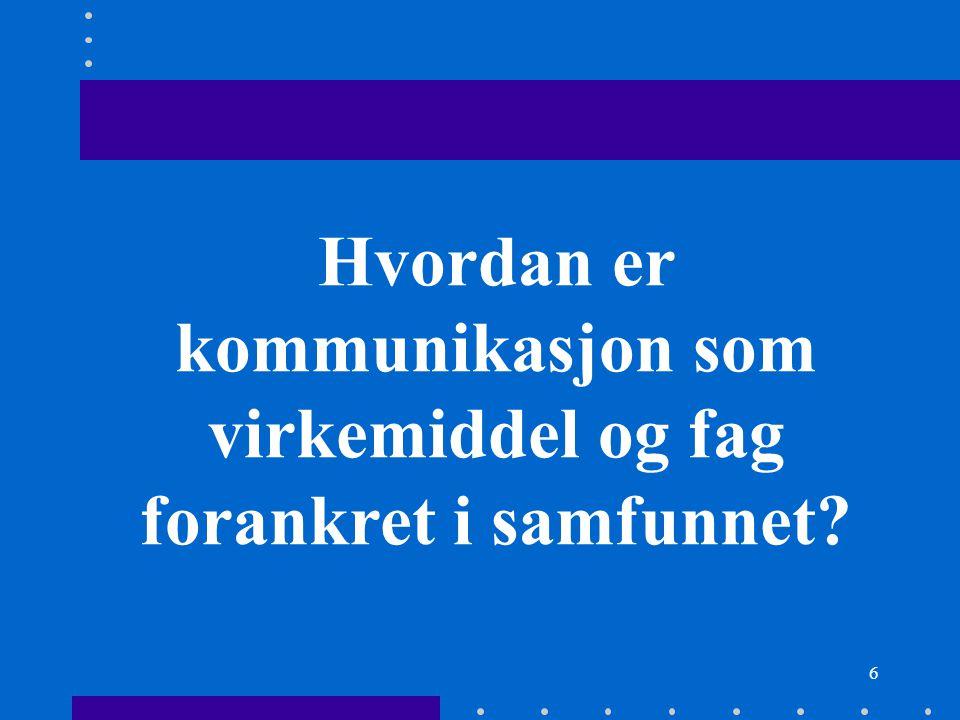 77 Over 3,2 millioner nordmenn hadde Internettilgang i Norge pr. desember 2006: