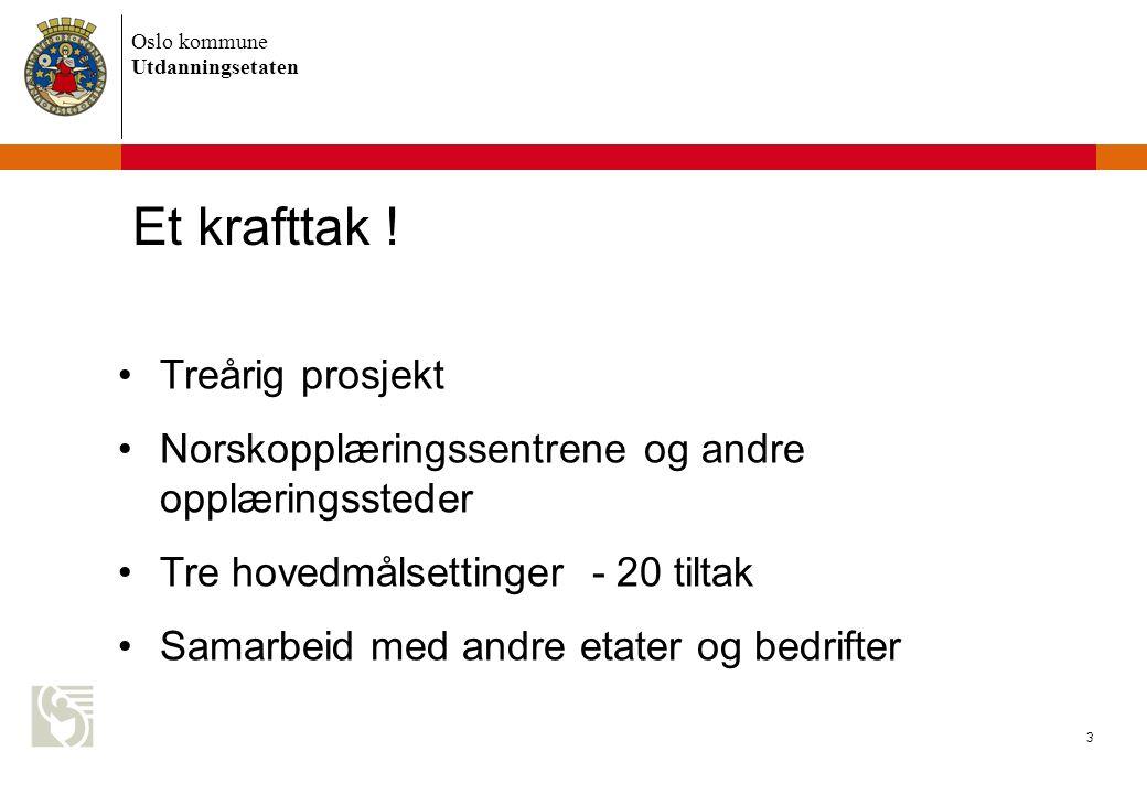 Oslo kommune Utdanningsetaten 3 Et krafttak .