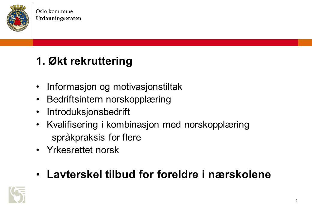 Oslo kommune Utdanningsetaten 6 1.