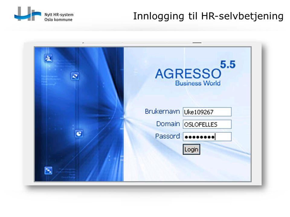 Innlogging til HR-selvbetjening