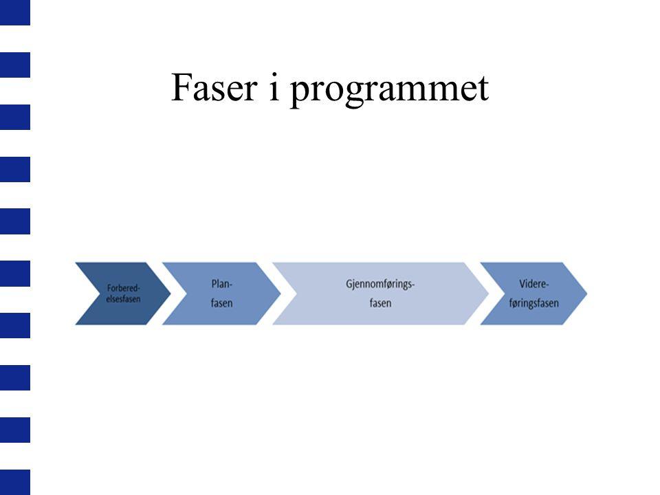 Faser i programmet