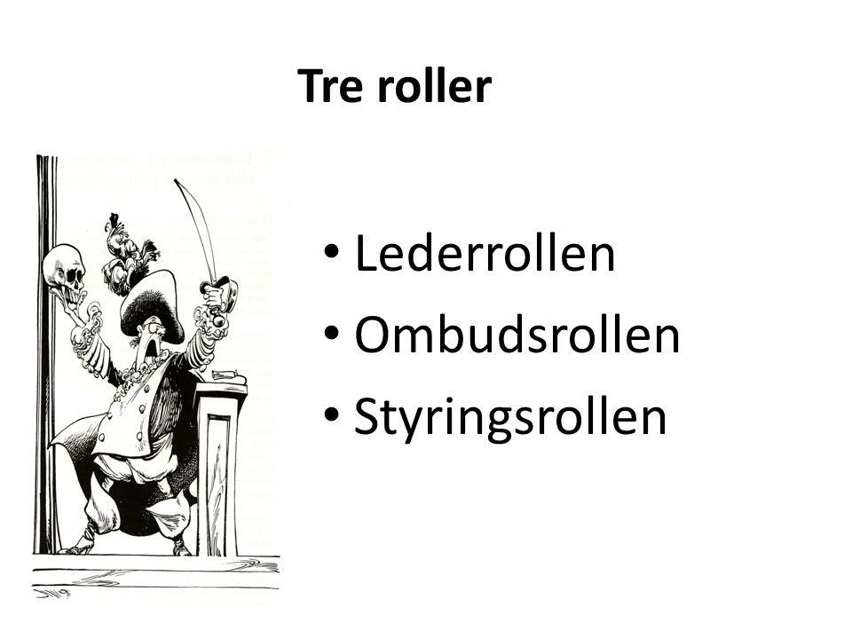 Tre roller Lederrollen Ombudsrollen Styringsrollen