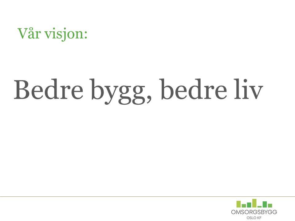 Bedre bygg, bedre liv Vår visjon: