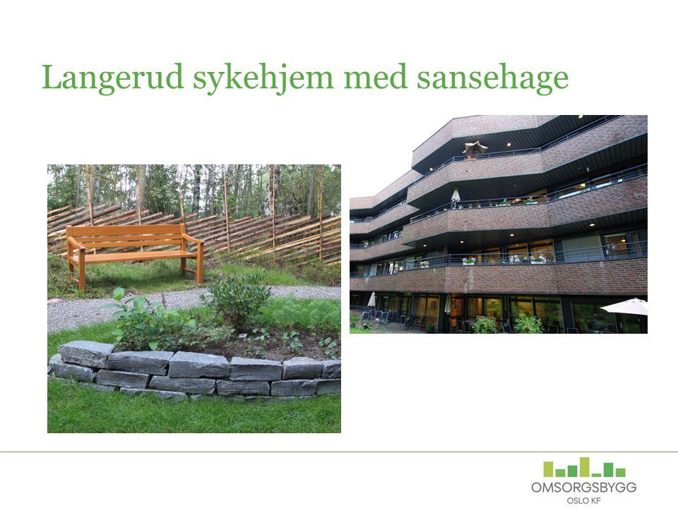 Miljø og energi Omsorgsbygg Oslo KF skal være ledende på utvikling, bygging og forvaltning av miljøvennlige og energieffektive helse- og omsorgsbygg Energi og energibruk Materialvalg ved nybygg og rehabilitering Avfallshåndtering