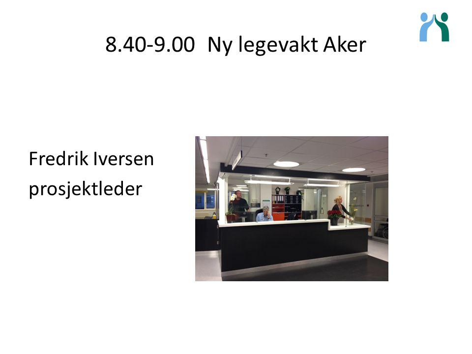 9.00-9.20 Hva blir kommunalt akutt døgnopphold Trond M. Trondsen prosjektleder