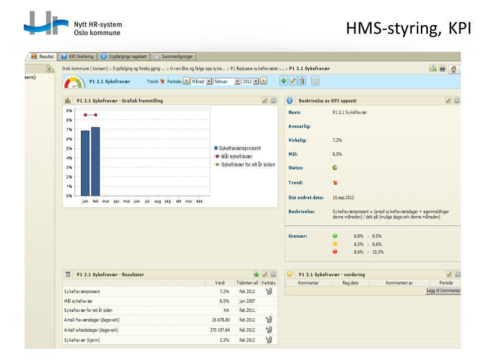 HMS-styring, KPI