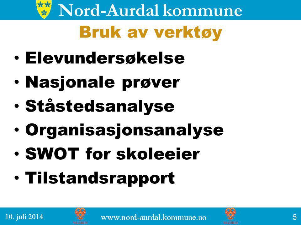 Nord-Aurdal kommune Suksesskriterier Grundig gjennomgang og drøfting i forkant av undersøkelsene.