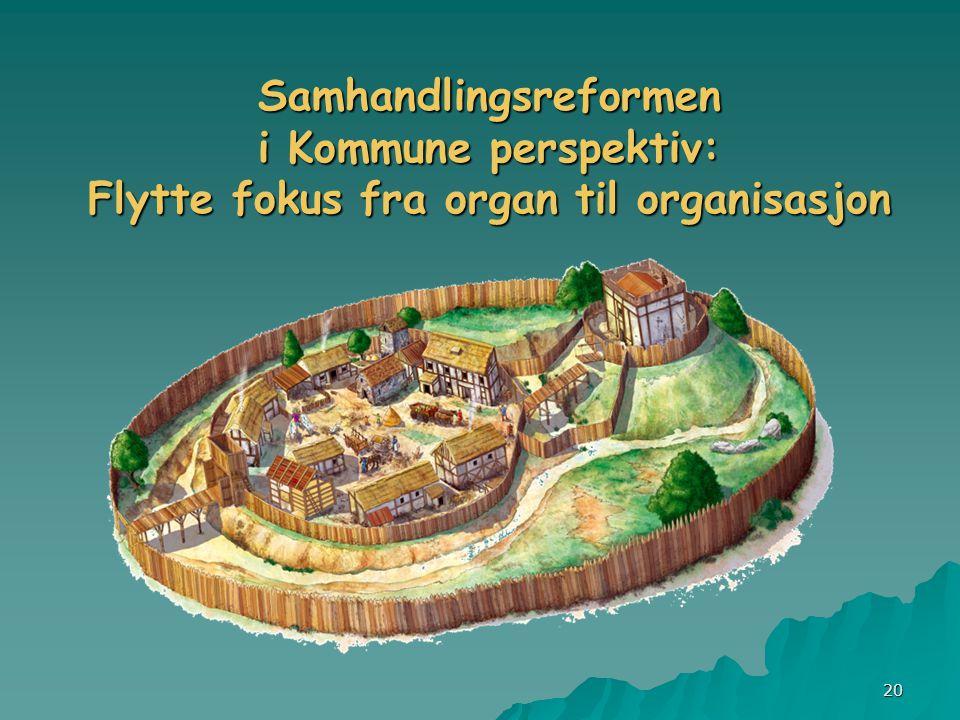 20 Samhandlingsreformen i Kommune perspektiv: Flytte fokus fra organ til organisasjon
