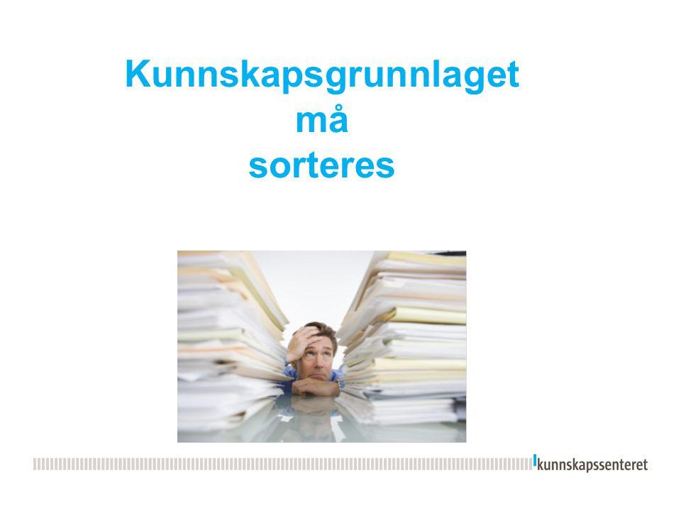 Disposisjon  Bakgrunn for å finne kunnskapsgrunnlag (refleksjon)  Kunnskap om hva.