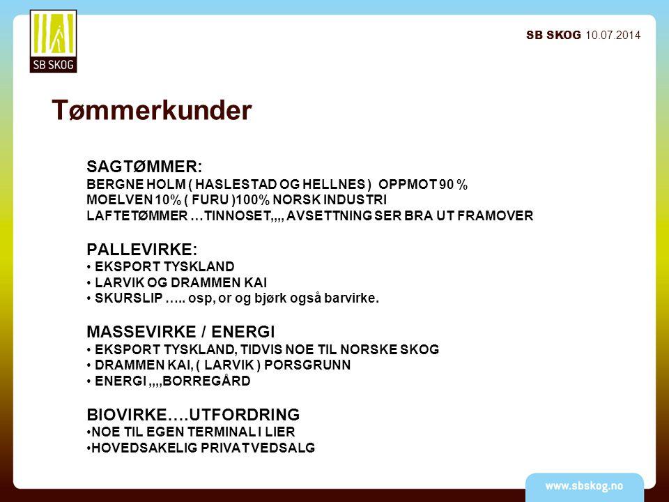 Tømmerkunder SB SKOG 10.07.2014