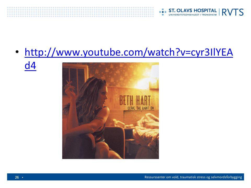 26 http://www.youtube.com/watch?v=cyr3IlYEA d4 http://www.youtube.com/watch?v=cyr3IlYEA d4