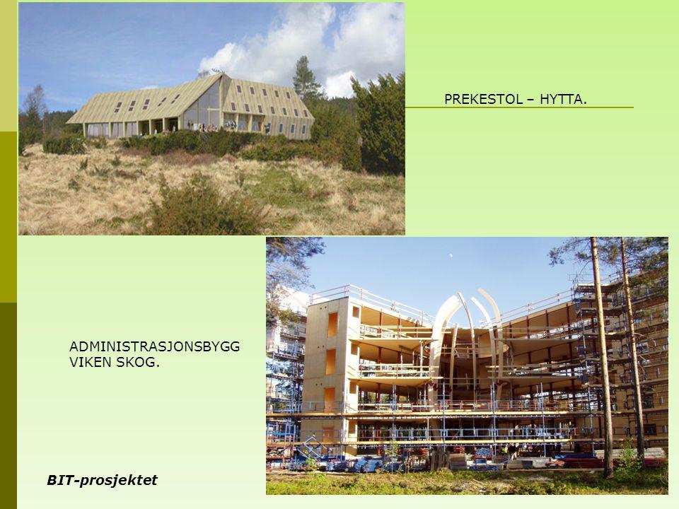 BIT-prosjektet 8 PREKESTOL – HYTTA. ADMINISTRASJONSBYGG VIKEN SKOG.