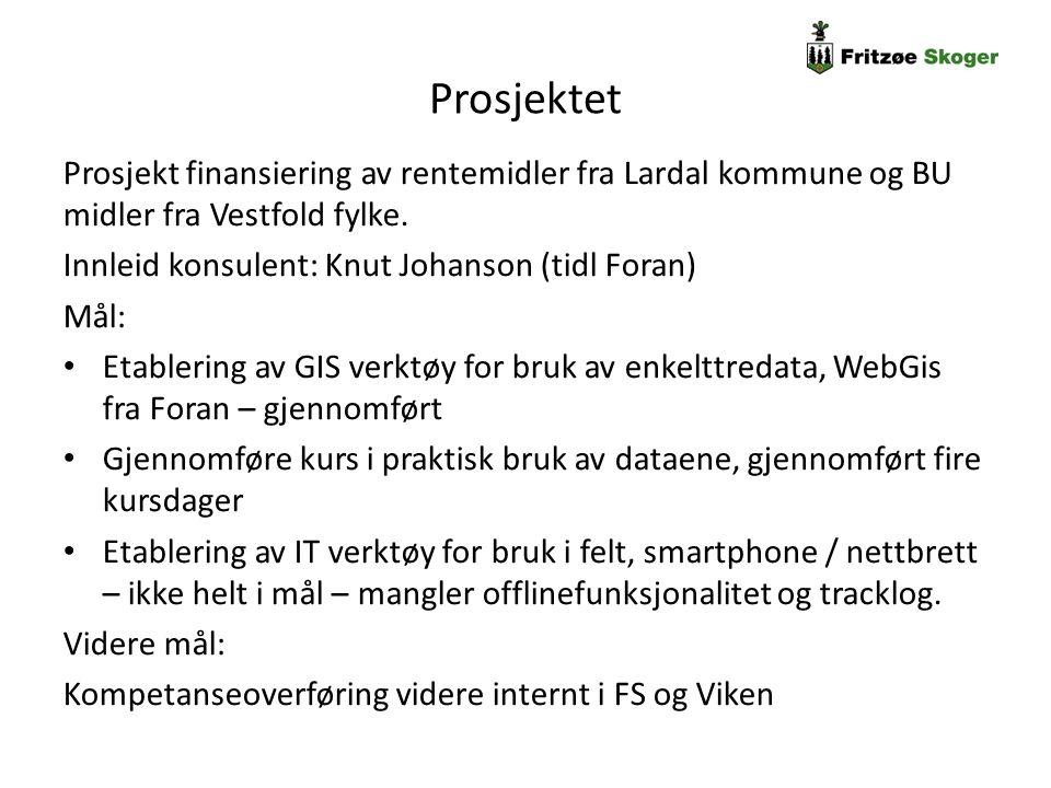 Prosjektet Prosjekt finansiering av rentemidler fra Lardal kommune og BU midler fra Vestfold fylke. Innleid konsulent: Knut Johanson (tidl Foran) Mål: