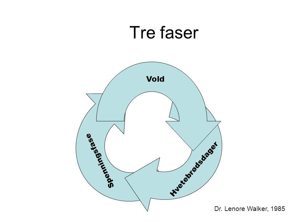 Tre faser Vold Spenningsfase Hvetebrødsdager Dr. Lenore Walker, 1985