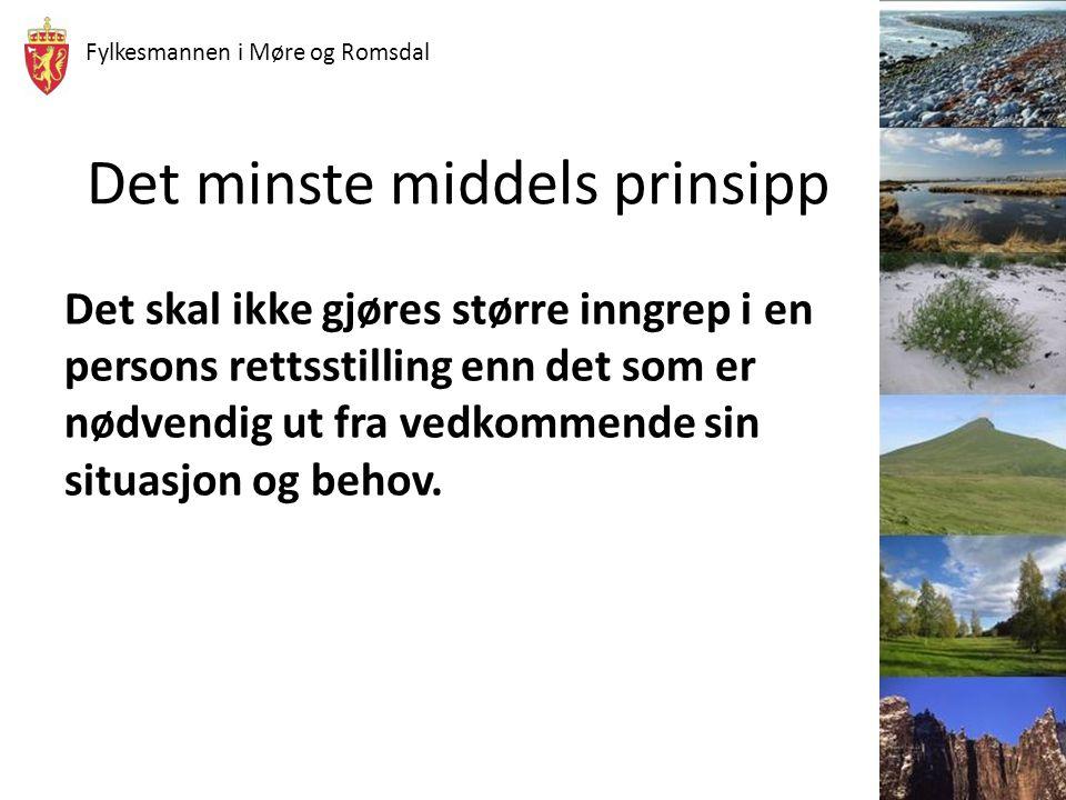 Fylkesmannen i Møre og Romsdal Medisinsk vilkår Kan bare opprette vergemål dersom det foreligger nærmere bestemte avvik i en person sin mentale eller fysiske funksjonshemming Det er den rådende medisinske oppfatningen som til enhver tid må være avgjørende for forståelsen av de ulike tilstandene